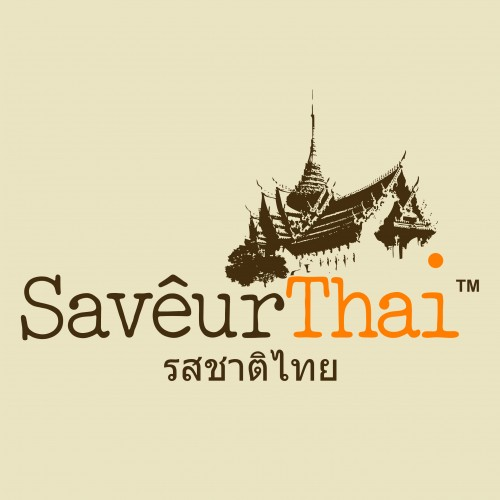 saveur thai logo with thai slogan for newpaper